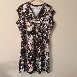 Vera Wang Floral Dress New Without Tags XL